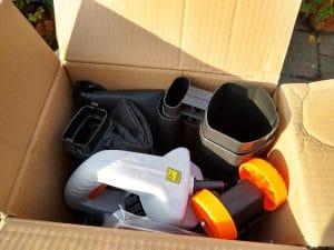 Von Haus - Leaf Mulcher - shows some tight packing/packaging skills